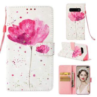 Plånboksfodral Samsung Galaxy S10 Plus – Rosa Blomma