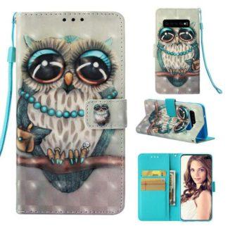 Plånboksfodral Samsung Galaxy S10 Plus – Utsmyckad Uggla