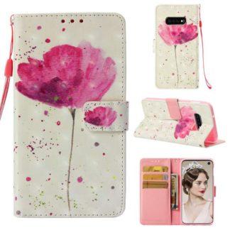 Plånboksfodral Samsung Galaxy S10e – Rosa Blomma