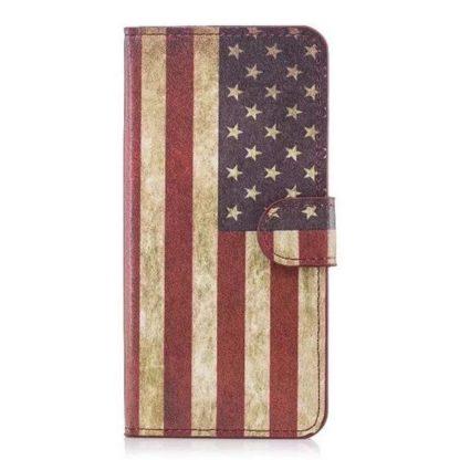 Plånboksfodral Huawei Mate 20 Lite - Flagga USA