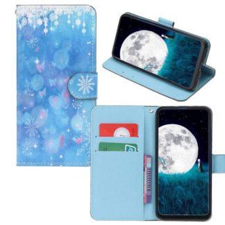 Plånboksfodral Huawei P30 – Snöflingor & Fjärilar