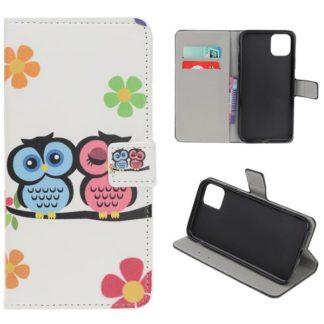 Plånboksfodral Apple iPhone 11 - Ugglor & Blommor