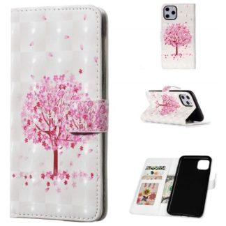 Plånboksfodral Apple iPhone 11 Pro – Rosa Träd