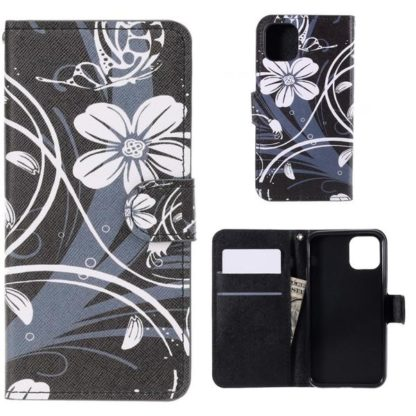 Plånboksfodral Apple iPhone 11 Pro - Svart med Blommor