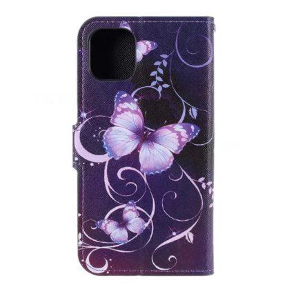 Plånboksfodral Apple iPhone 11 Pro - Lila med Fjärilar