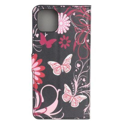 Plånboksfodral Apple iPhone 11 Pro - Svart med Fjärilar