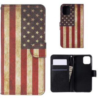 Plånboksfodral Apple iPhone 11 Pro Max - Flagga USA