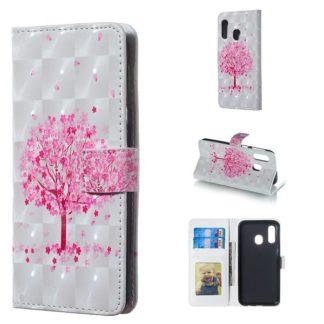 Plånboksfodral Samsung Galaxy A40 – Rosa Träd