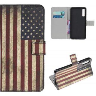 Plånboksfodral Samsung Galaxy A70 - Flagga USA
