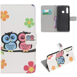 Plånboksfodral Huawei P30 Lite - Ugglor & Blommor