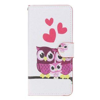 Plånboksfodral Samsung Galaxy A10 - Ugglor & Hjärtan