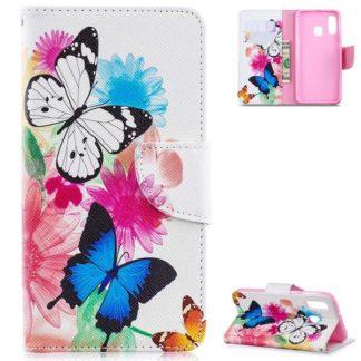 Plånboksfodral Samsung Galaxy A40 – Färgglada Fjärilar