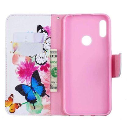 Plånboksfodral Huawei P Smart 2019 – Färgglada Fjärilar