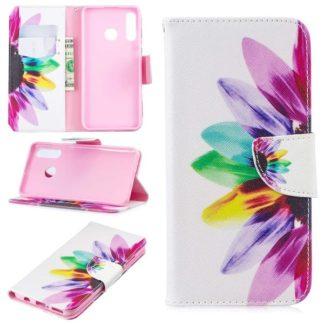 Plånboksfodral Huawei P30 Lite – Färgglad Blomma