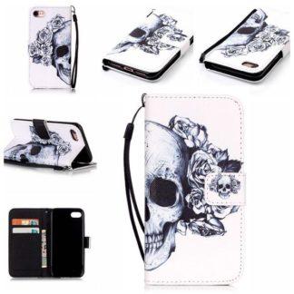 Plånboksfodral iPhone 6 / 6s – Döskalle / Rosor