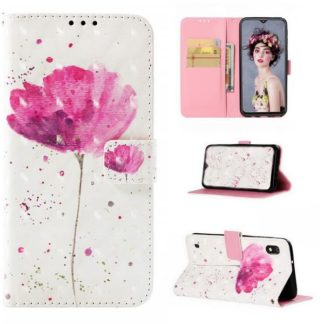 Plånboksfodral Samsung Galaxy A10 – Rosa Blomma