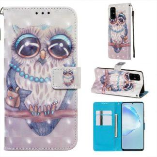 Plånboksfodral Samsung Galaxy S20 Plus – Utsmyckad Uggla