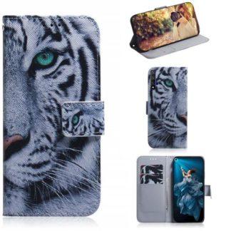 Plånboksfodral Huawei Nova 5T - Vit Tiger