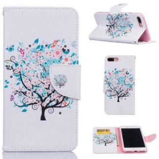 Plånboksfodral Apple iPhone 8 Plus – Färgglatt Träd