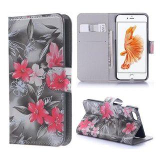 Plånboksfodral iPhone SE (2020) - Svartvit med Blommor