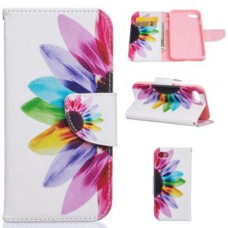 Plånboksfodral iPhone SE (2020) – Färgglad Blomma