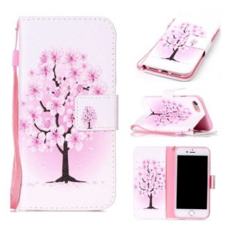 Plånboksfodral iPhone SE (2020) – Rosa Träd