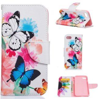 Plånboksfodral iPhone SE (2020) – Färgglada Fjärilar