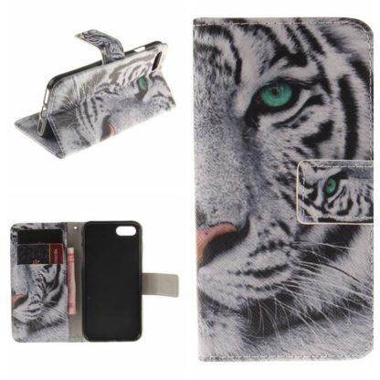 Plånboksfodral iPhone SE (2020) - Vit Tiger