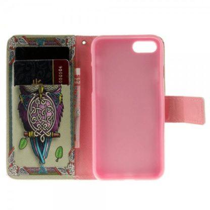 Plånboksfodral iPhone SE (2020) - Färgglad Uggla