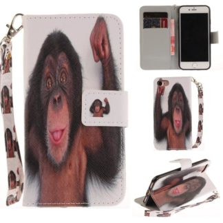 Plånboksfodral iPhone SE (2020) – Schimpans