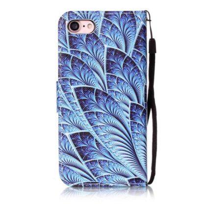 Plånboksfodral iPhone SE (2020) – Blå Blomma