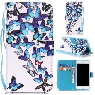 Plånboksfodral iPhone SE (2020) - Fjärilar