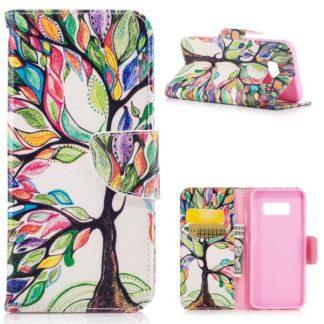 Plånboksfodral Samsung Galaxy S8 – Färgglatt Träd