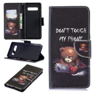 Plånboksfodral Samsung Galaxy S10 Plus - Don't Touch My Phone
