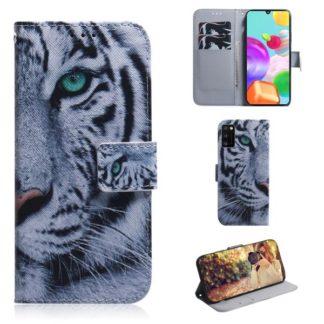 Plånboksfodral Samsung Galaxy A41 - Vit Tiger