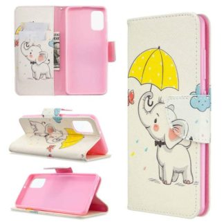 Plånboksfodral Samsung Galaxy A41 – Elefant med Paraply