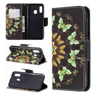 Plånboksfodral Samsung Galaxy A40 – Fjärilar I Cirkel