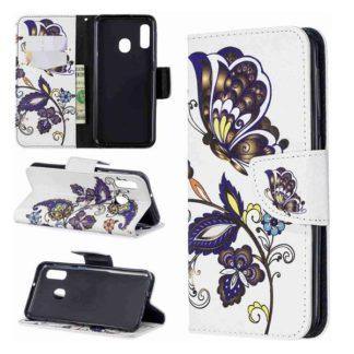 Plånboksfodral Samsung Galaxy A40 – Elegant Fjäril