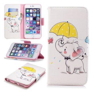 Plånboksfodral Apple iPhone 7 – Elefant med Paraply