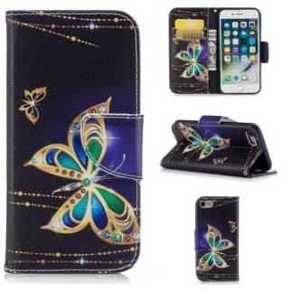 Plånboksfodral Apple iPhone 7 – Guldfjäril