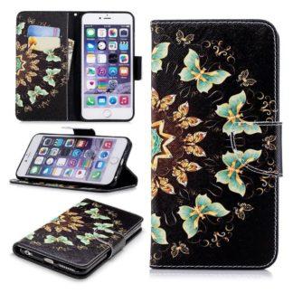 Plånboksfodral Apple iPhone 6 – Fjärilar I Cirkel