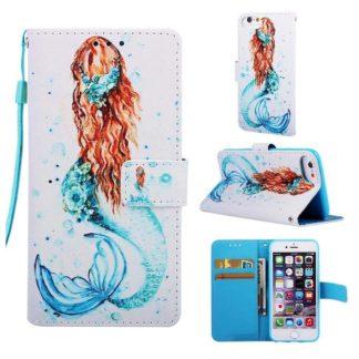 Plånboksfodral Apple iPhone 6 – Sjöjungfru