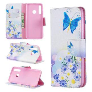 Plånboksfodral Huawei P Smart 2019 – Fjärilar och Blommor