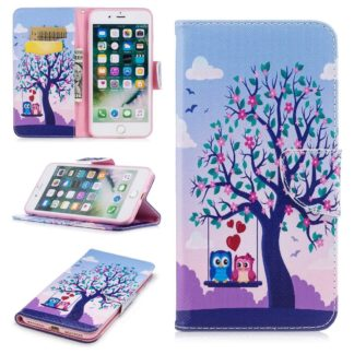Plånboksfodral Apple iPhone 8 Plus – Ugglor på Gunga