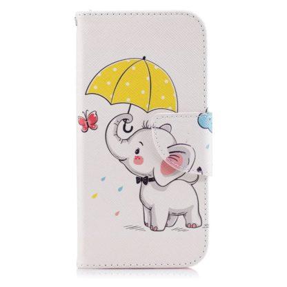 Plånboksfodral Apple iPhone SE (2020) – Elefant med Paraply