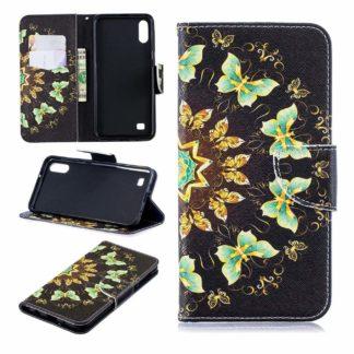 Plånboksfodral Samsung Galaxy A10 – Fjärilar I Cirkel