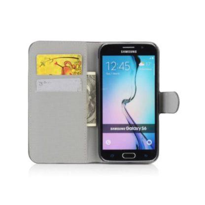Plånboksfodral Samsung Galaxy S6 - Svart med Fjärilar