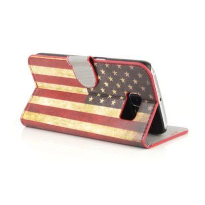 Plånboksfodral Samsung Galaxy S6 Edge - Flagga USA