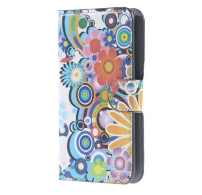 Plånboksfodral Samsung Galaxy S6 Edge - Blommor & Cirklar