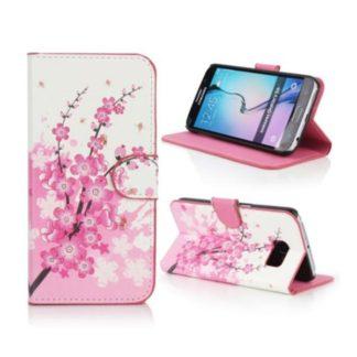 Plånboksfodral Samsung Galaxy S6 Edge - Körsbärsblommor